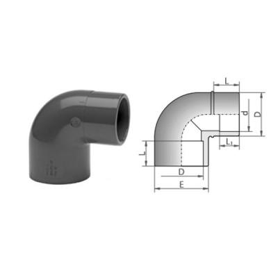 KOLANO 90° VERLOOP MOF/SPIE PVC-U