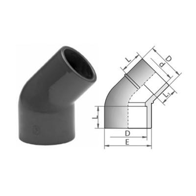 KOLANO 45° VERLOOP MOF/SPIE PVC-U