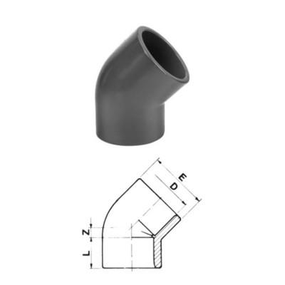 KOLANO 45° PVC-U