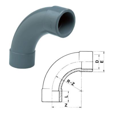 ŁUK 90° PVC-U