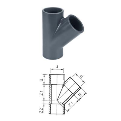 TRÓJNIK 45° PVC-U