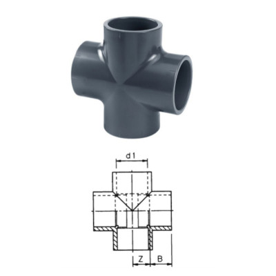 CZWÓRNIK 90° PVC-U